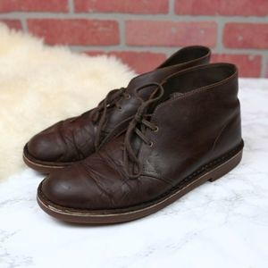Clarks Desert Boots Brown Leather Men's 11